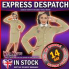 FANCY DRESS COSTUME # LADIES 1940'S RAF UNIFORM SM 8-10